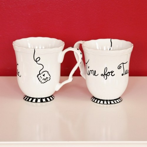 sharpie painted mugs
