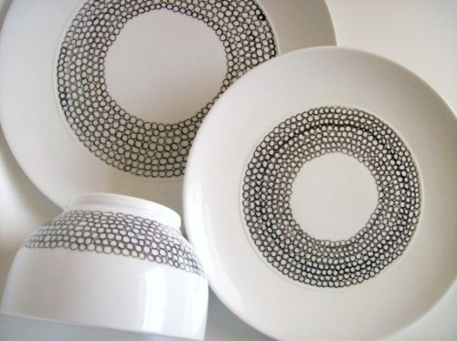 How To Paint Porcelain Plates And Bowls