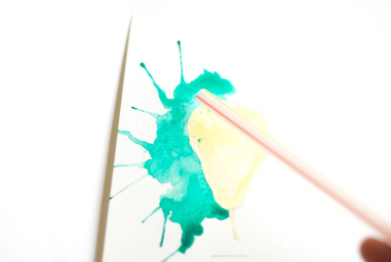 Picture Of how to paint with watercolors using straws  6