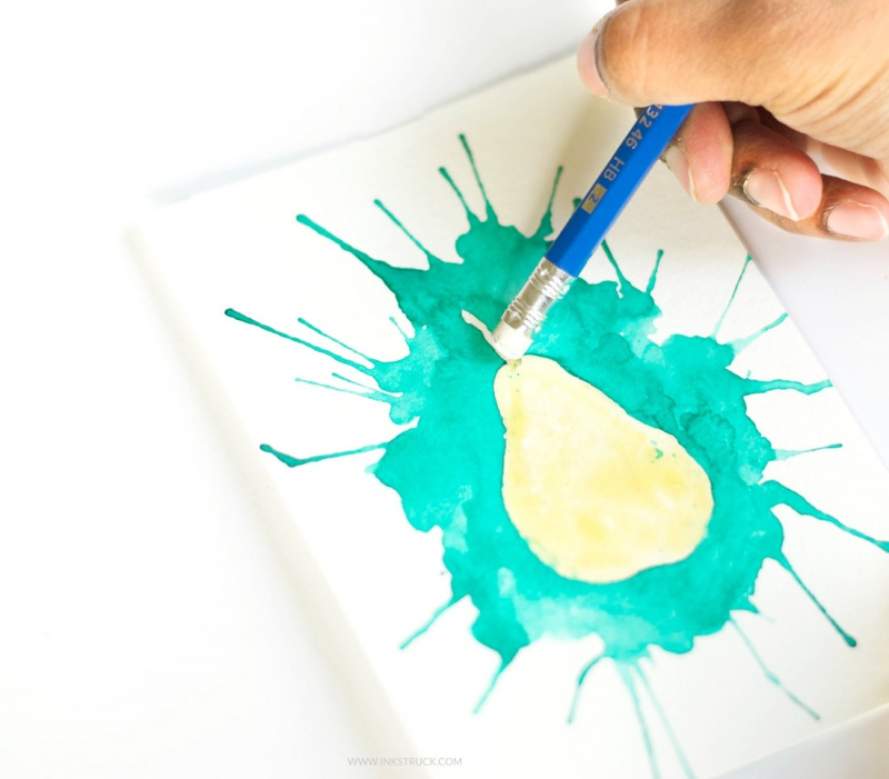 Picture Of how to paint with watercolors using straws  7
