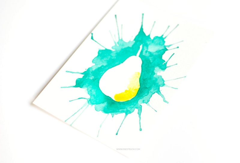 Picture Of how to paint with watercolors using straws  8