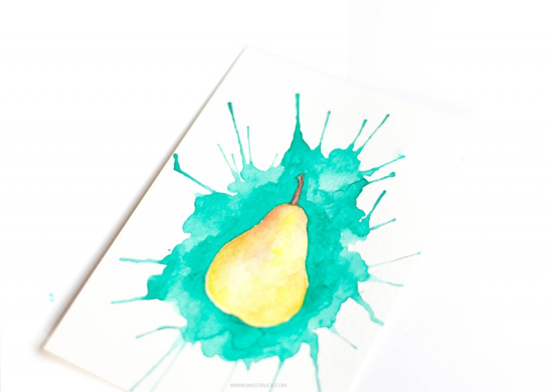 Picture Of how to paint with watercolors using straws  9