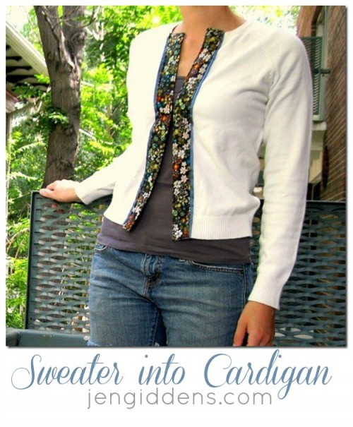 guest sweater into cardigan (via u-createcrafts)