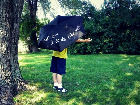 hand painted words umbrella