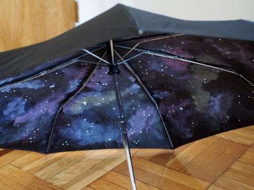 galaxy umbrella (via pinkstripeysocks)