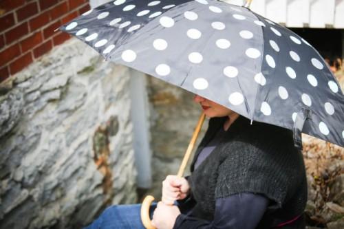 polka dot umbrella (via henryhappened)