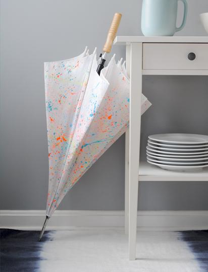 splattered umbrella