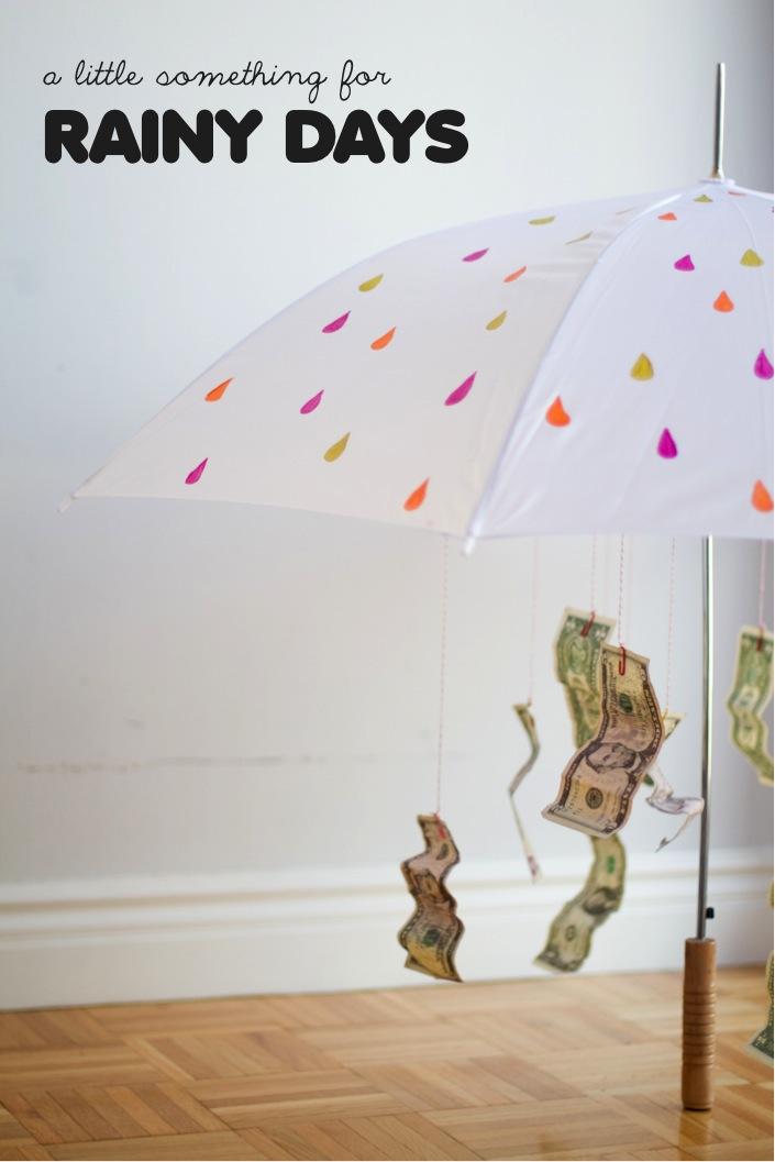 colorful rain umbrella