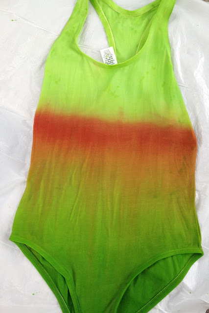ombre swimsuit dying