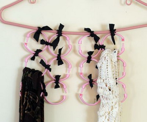 super simple diy scarf hanger