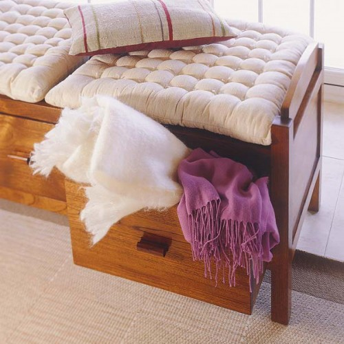 under bed storage could also be occupied if you have a large scarf collection