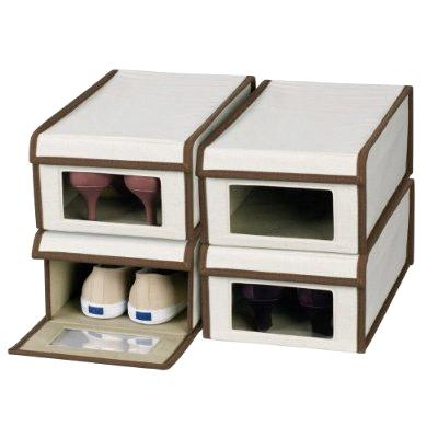 If you have a window in your shoe boxes you don't need to label them.