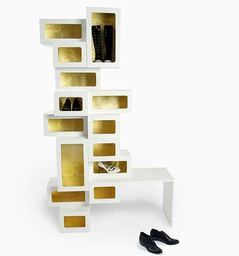 That's how creative shoe storage cabinets looks like.