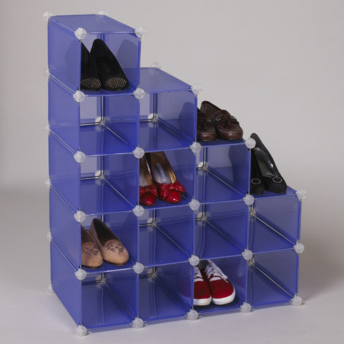 Simple to scale shoe storage solution