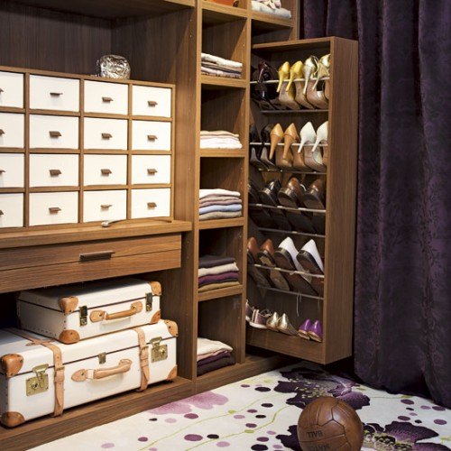 Pull out shoe storage could be quite easy and practical to use.