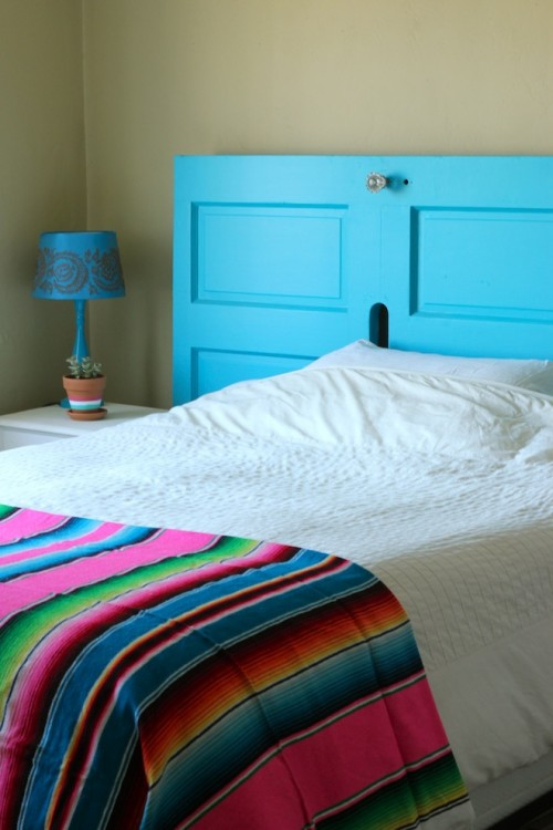How To Trun A Front Door Into A Headboard
