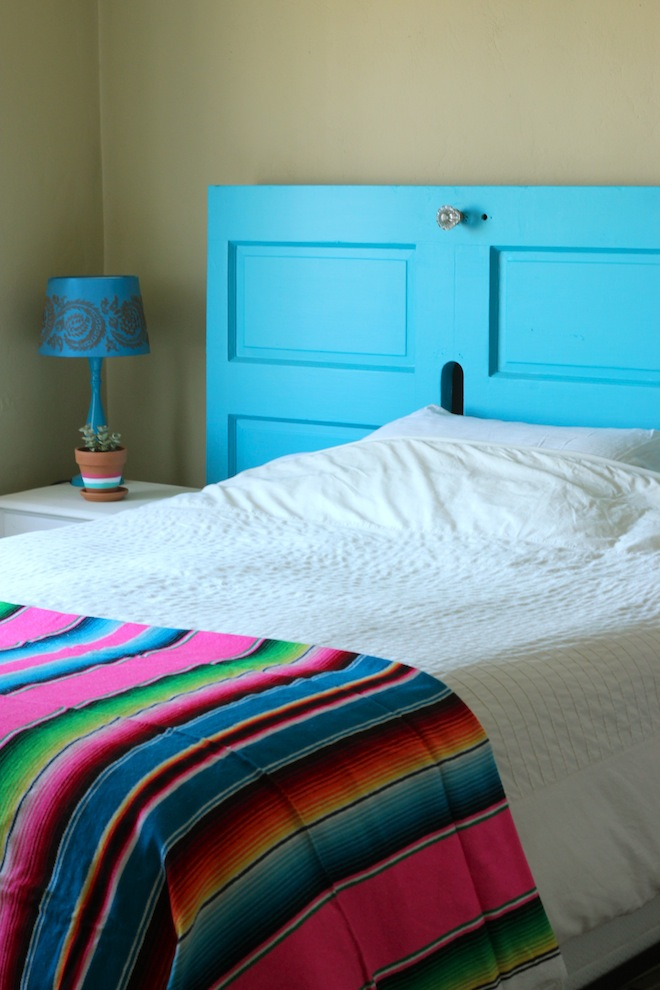 How To Turn A Front Door Into A Headboard
