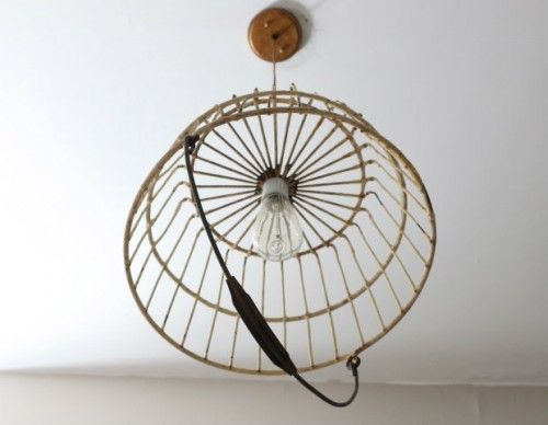 How To Turn A Basket Into A Unique Pendant Light