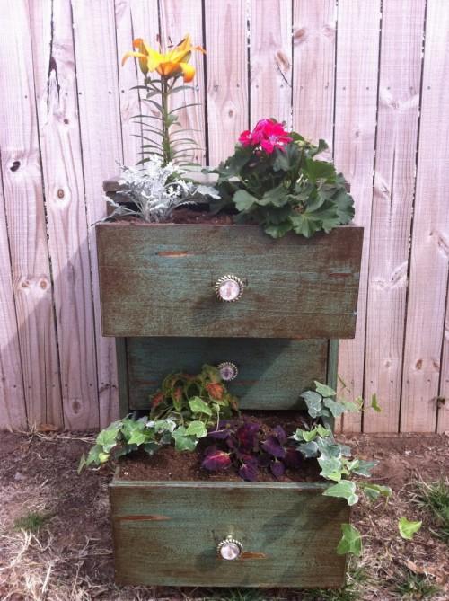 How to turn a dresser into a garden planter 1 500x669
