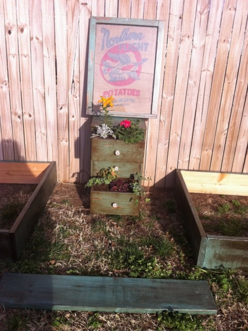 How To Turn A Dresser Into A Garden Planter Shelterness