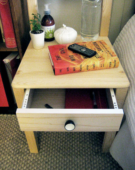 How To Turn An Ikea Chair Into A Bedside Table