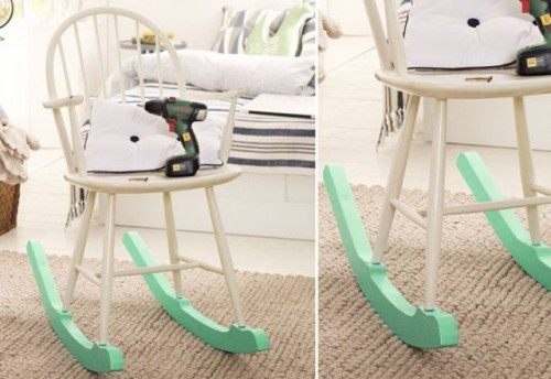 How To Turn An Old Chair Into A Colorful Rocker Shelterness