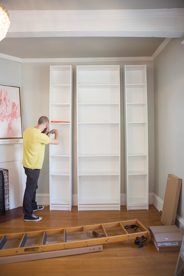 Picture Of how to turn ikea bookshelves into a bookcase  2