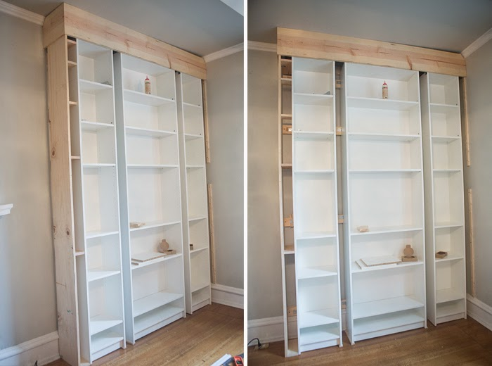 Picture Of how to turn ikea bookshelves into a bookcase  5