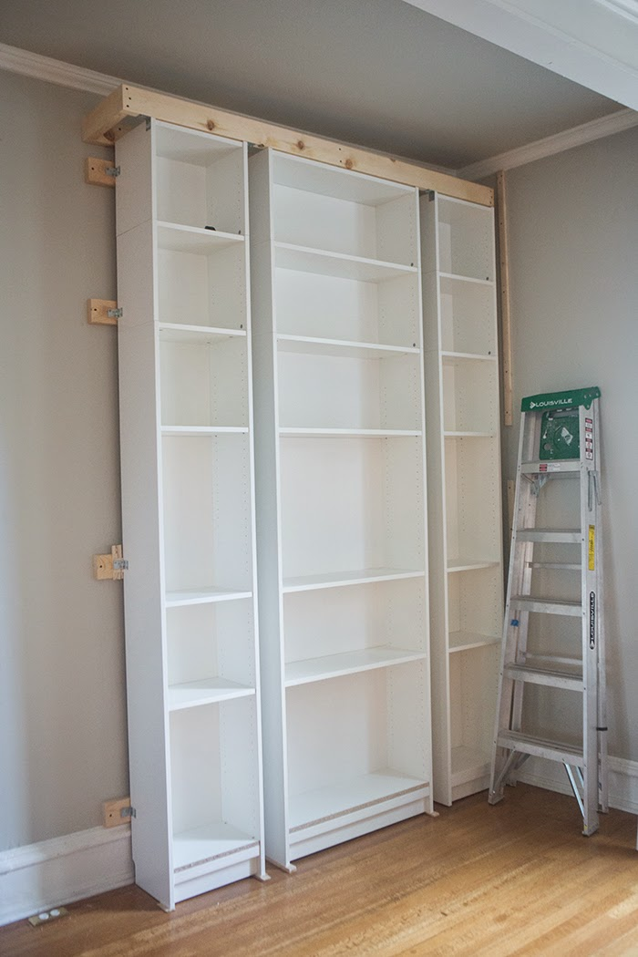 Picture Of how to turn ikea bookshelves into a bookcase  6