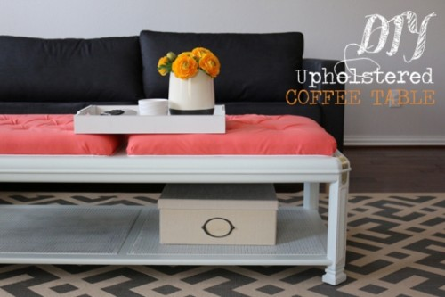 How To Upholster And Paint A Coffee Table