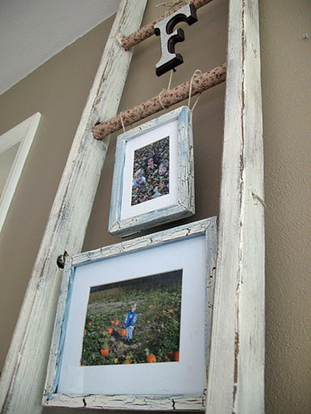 How To Use An Old Ladder As A Display 20 Ideas Shelterness