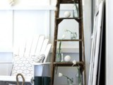 How To Use An Old Ladder As A Display