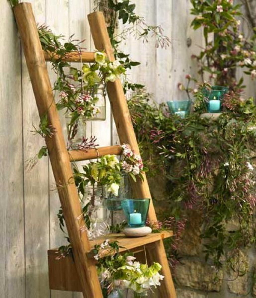 How To Reuse A Ladder As A Plant Stand – 15 Ideas » Photo 5