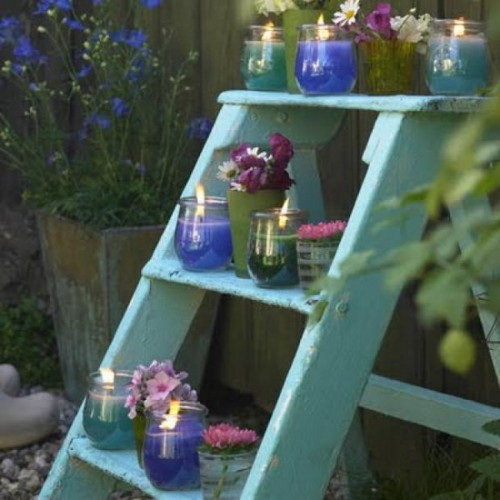 15 Creative Garden Ideas You Can Steal: How To Reuse A Ladder As A Plant Stand