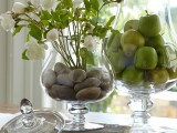 add pebbles into a usual clear vase and it'll become more natural and spectacular at once