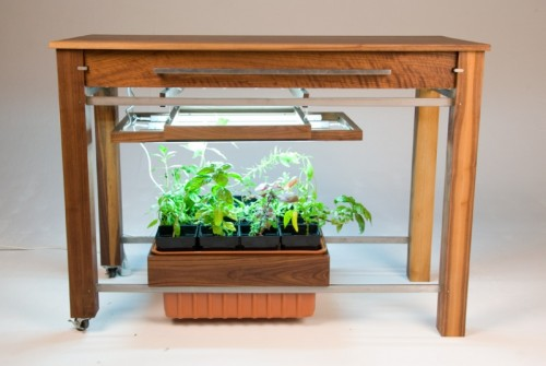 Kitchen Table With Hydroponic Grow System