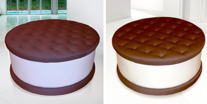 Ice Cream Cookie Ottoman