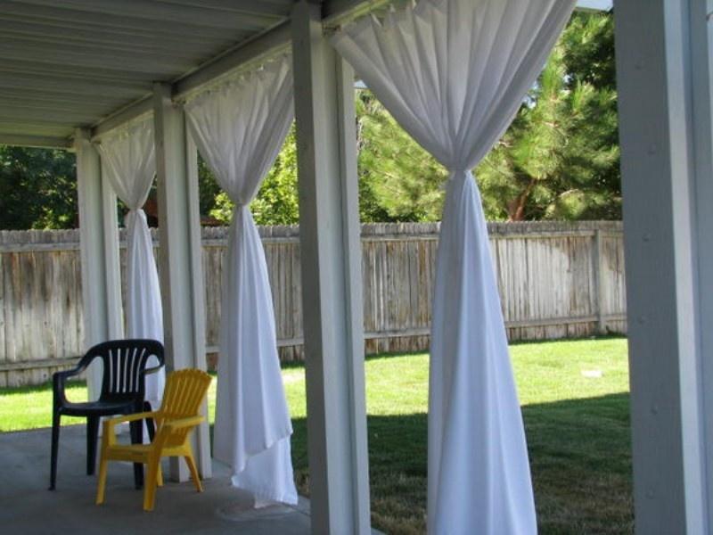 Ideas Fabric Decor In Your Garden