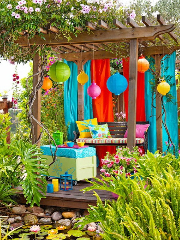 60 Ideas Of Fabric Decor In Your Garden Shelterness