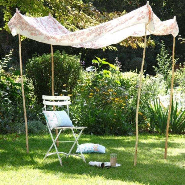 Diy Backyard Canopy Ideas : 60 Ideas Of Fabric Decor In Your Garden ? Photo 36