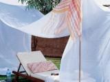 Ideas Of Fabric Decor In Your Garden