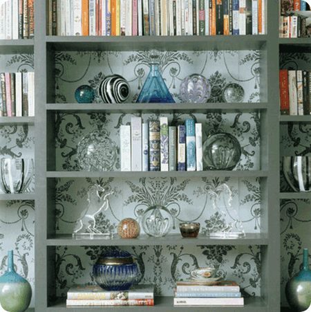 Simple Bookcase Backing Wallpaper