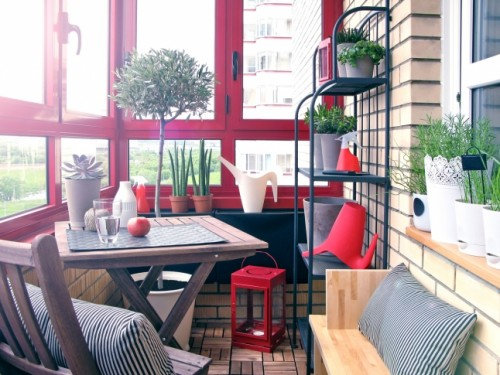 Ikea's furniture will work as a charm on any small balcony.