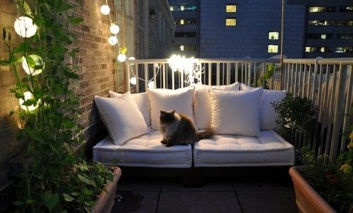 A comfy seat, some greenery and string lights are things you need  to create an amazing relaxing area.