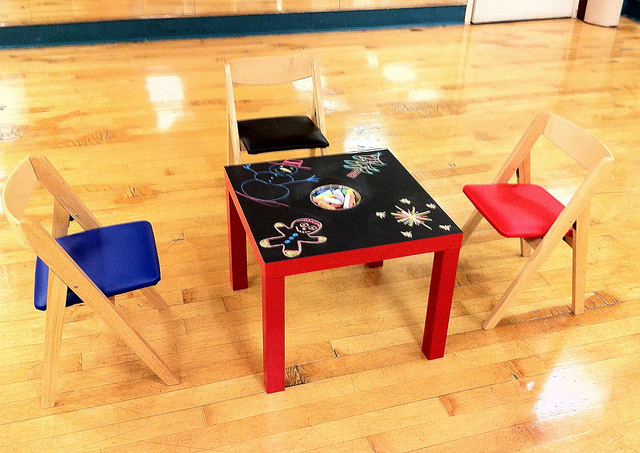 DIY IKEA Chalkboard Table For Kids | Shelterness