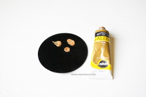 IKEA Hack: DIY Black And Gold Coasters