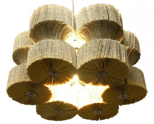 Impressive Chandeliers Made Of Old Books