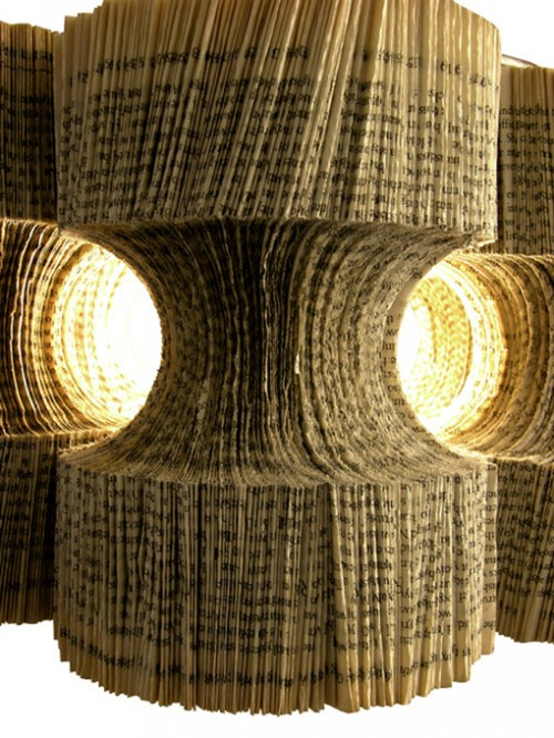 Impressive Chandeliers Made Of Paper From Old Books