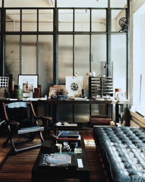 Industrial Style Works Well For Office Designs Too.