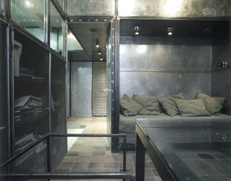 All Metal Industrial Bedroom Design. For Some People That Might Be Uncomfy  But For